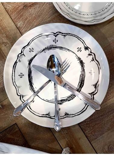 The Mia Orient Çatal Kaşık Bıçak Seti 18 Parça - Yemek Renkli